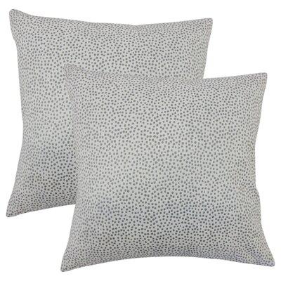 Bartlett Polka Dot Throw Pillow Color: Stone