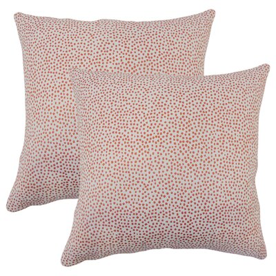 Bartlett Polka Dot Throw Pillow Color: Coral