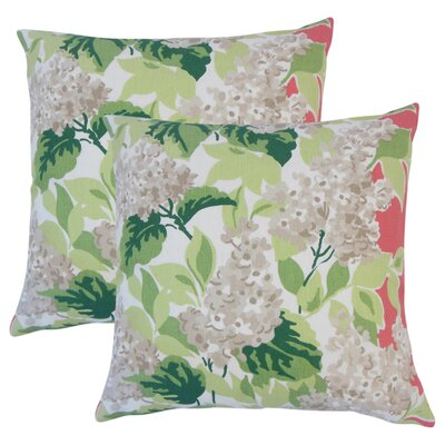 Zolt�n Floral Cotton Throw Pillow Color: Rhubarb