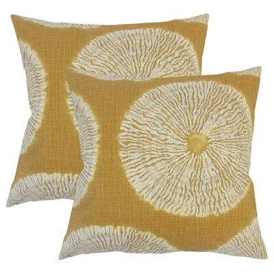 Paladin Ikat Cotton Throw Pillow Color: Amber