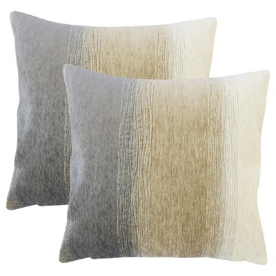 Fitu Ombre Throw Pillow Color: Gray