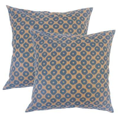 Younes Ikat Cotton Throw Pillow Color: Brown