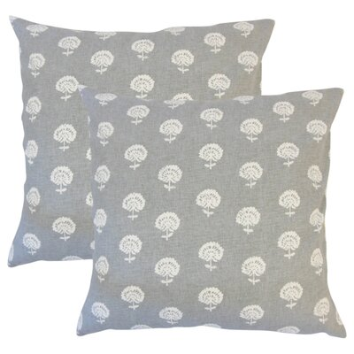 Benito Cotton Throw Pillow Color: Graystone