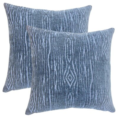 Whitehead Solid Throw Pillow Color: Navy