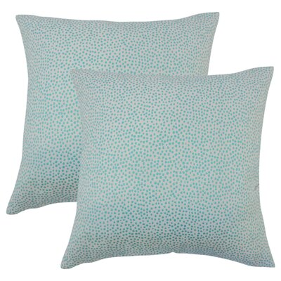 Bartlett Polka Dot Throw Pillow Color: Turquoise