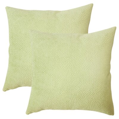 Chevaliers Solid Throw Pillow Color: Green