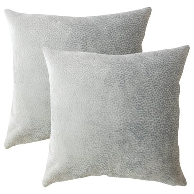 Chevaliers Solid Throw Pillow Color: Slate