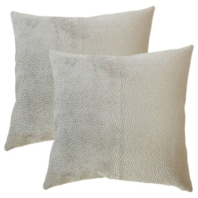 Chevaliers Solid Throw Pillow Color: Stone