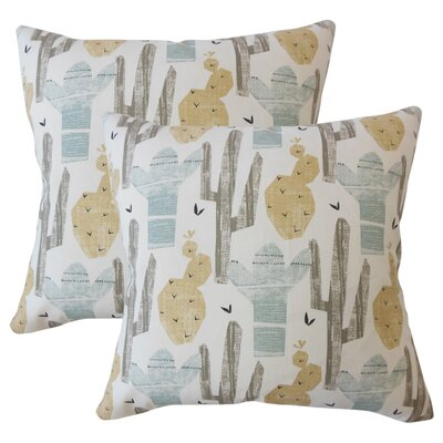 Skive Graphic Cotton Throw Pillow Color: Beige