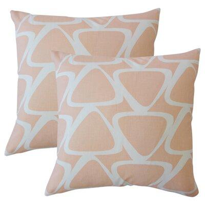 Cherish Geometric Cotton Throw Pillow Color: Orange