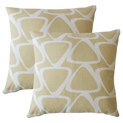 Cherish Geometric Cotton Throw Pillow Color: Brown