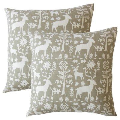 Venito Modern Animal Print Cotton Throw Pillow Color: Driftwood