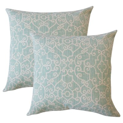 Venito Animal Print Cotton Throw Pillow Color: Blue