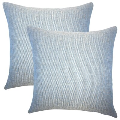 Chapple Solid Throw Pillow Color: Marine