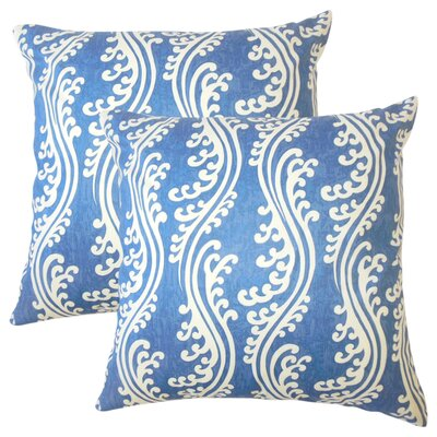 Harriet Coastal Cotton Throw Pillow Color: Ocean