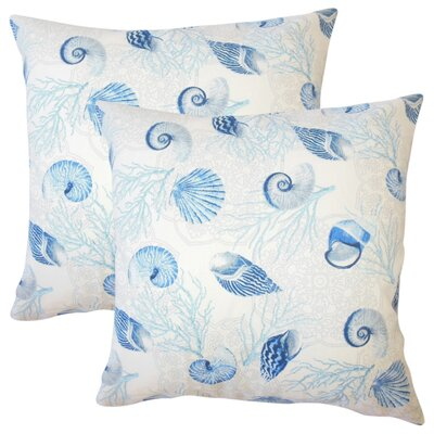 Bahama Coastal Cotton Throw Pillow