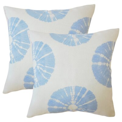 Staples Ikat Throw Pillow Color: Sky Blue