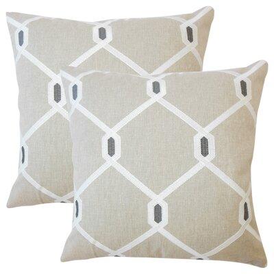 Kemo Geometric Throw Pillow Color: Pewter