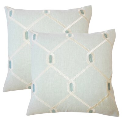 Kemo Geometric Throw Pillow Color: Seagreen