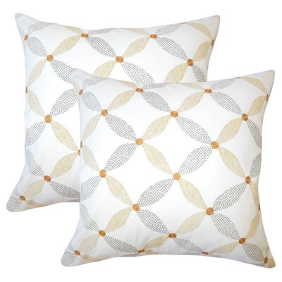 Peregrin Geometric Cotton Throw Pillow Color: Amber
