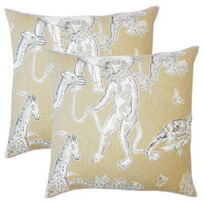 Wildhollow Graphic Cotton Throw Pillow Color: Jute