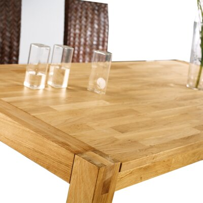 Dining Table Color: Light Brown, Size: 29.5 H x 35 W x 59 L