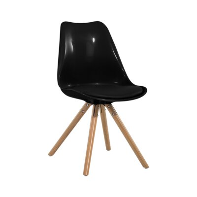 Kathleen Dining Chair Color: Black