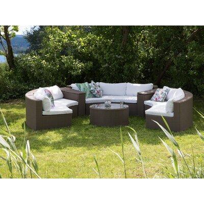 Curved Sofa Set Cushions 32369 Item Image