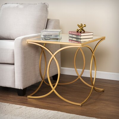 Dunlin Geometric End Table