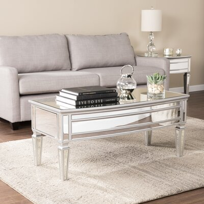 Elosie Mirrored 2 Piece Coffee Table Set