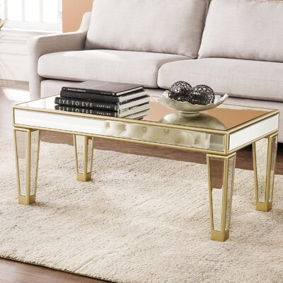 Paulornette Mirrored Coffee Table