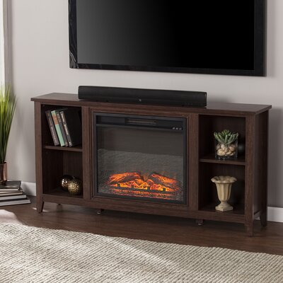Cross 55.5 TV Stand with Electric Fireplace Finish: Espresso