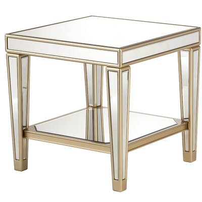 Paulornette Mirrored End Table with Tray
