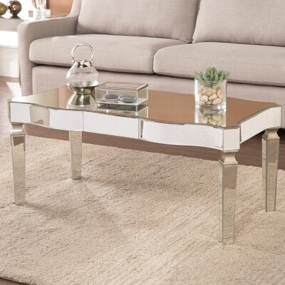Paulsen Mirrored 2 Piece Coffee Table Set