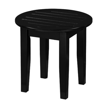 Largent Outdoor End Table Color: Black