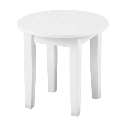 Largent Outdoor End Table Color: White