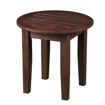 Largent Outdoor End Table Color: Oiled Hardwood
