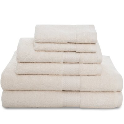 Montgomery 6 Piece Towel Set Color: Ecru