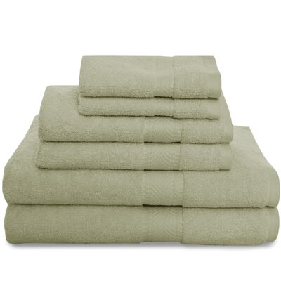 Montgomery 6 Piece Towel Set Color: Green Shadow