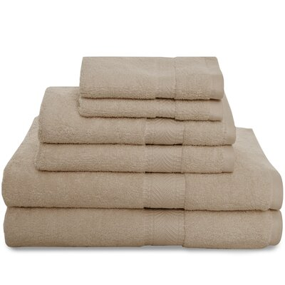 Montgomery 6 Piece Towel Set Color: Khaki
