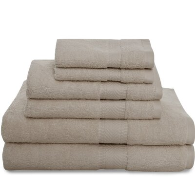 Montgomery 6 Piece Towel Set Color: Bark