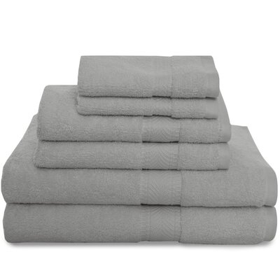 Montgomery 6 Piece Towel Set Color: Storm Grey