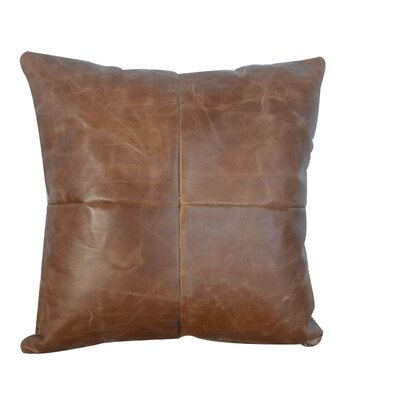 Tebin Leather Throw Pillow