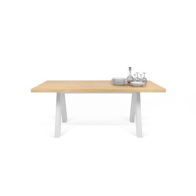 Opperman Dining Table Top Finish: Oak, Base Finish: Pure White