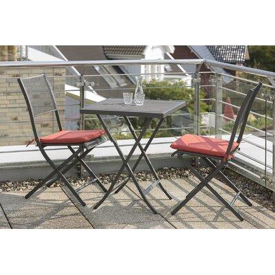 2-Sitzer Balkonset Fayette mit Polster | Garten > Balkon > Balkon-Sets | Gray | Metall - Rattan - Polyester | Lynton Garden