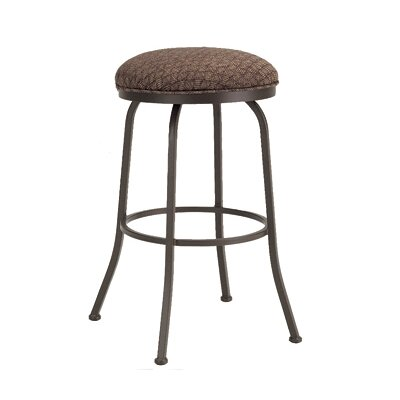 Baldwin 30 Swivel Bar Stool Frame Finish: Flintrock Gray, Upholstery: Victoria Dark Brown