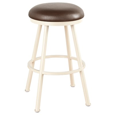 Arcadia 26 Swivel Bar Stool Frame Finish: Sun Bronze, Upholstery: Victoria Dark Brown