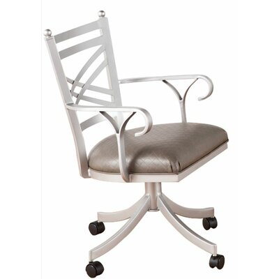 Rochester Arm Chair Frame Finish: Flintrock Gray, Upholstery: Radiance Pewter