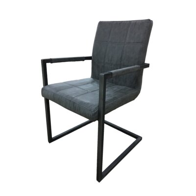 Fullerton Upholstered Dining Chair (Set of 2) Upholstery Color: Charcoal