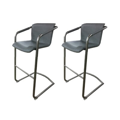 Tustin 30 Bar Stool (Set of 2) Upholstery: Charcoal